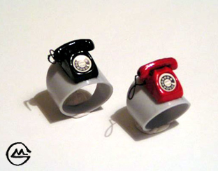 The telephone rings